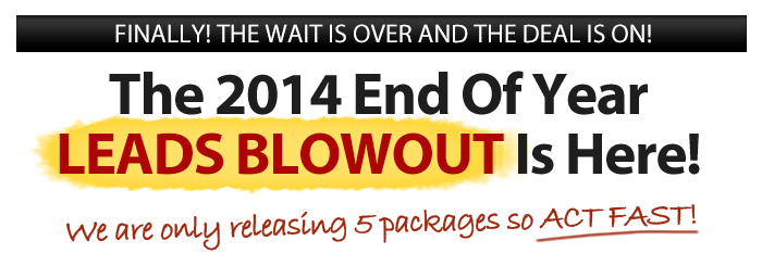 2014 Leads Blowout Is Here