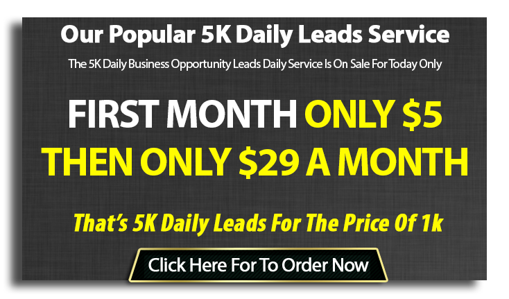 5k Business Opportunity Leads